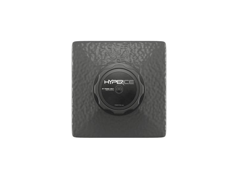 The black square shaped Hyperice Cell with the words Hyperice on the top.